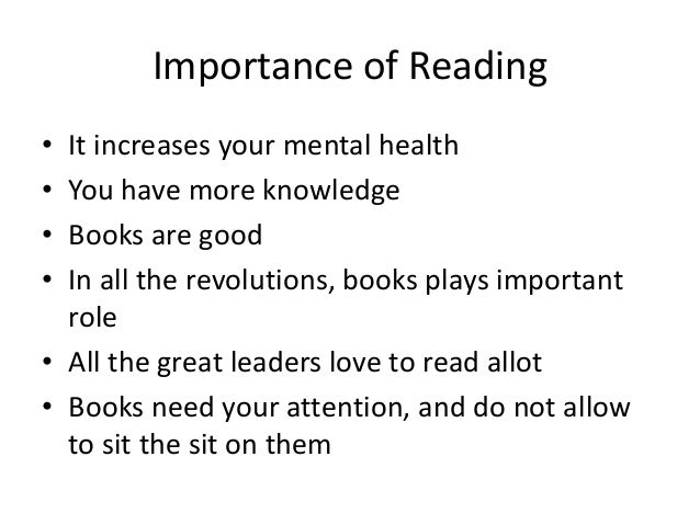 essays on importance of reading books The scores you receive on the sat essay will give you important feedback about  your strengths in reading: how well you understood the passage analysis: how.