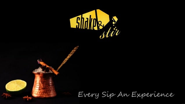 Shake & Stir Masterclass Overview Introducing Shake&Stir Cocktail Trends In the Events Industry Cocktail 1 – Brambletin...
