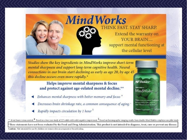 Shaklee Mindworks - New technology in Quality of Life Extension