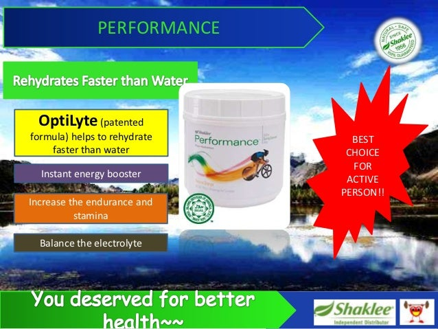 PERFORMANCE  OptiLyte (patentedformula) helps to rehydrate     BEST    faster than water          CHOICE                  ...