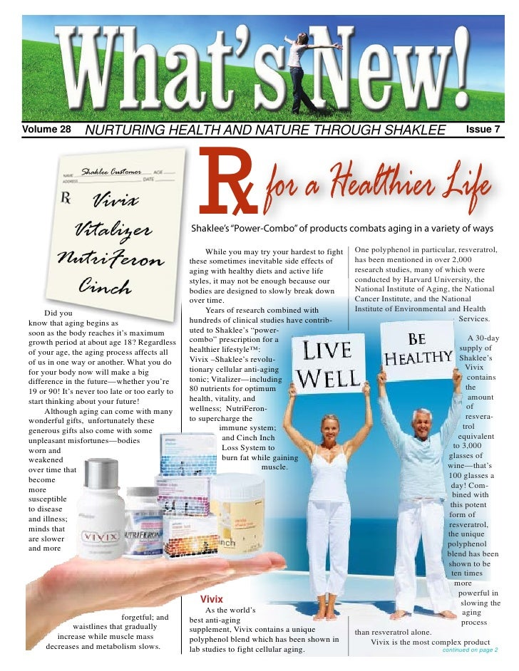 R Volume 28        NURTURING HEALTH AND NATURE THROUGH SHAKLEE                                                            ...