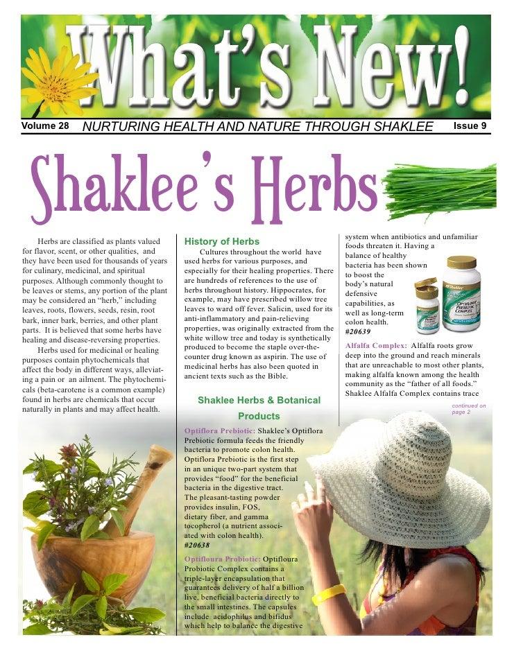 Volume 28         NURTURING HEALTH AND NATURE THROUGH SHAKLEE                                                             ...