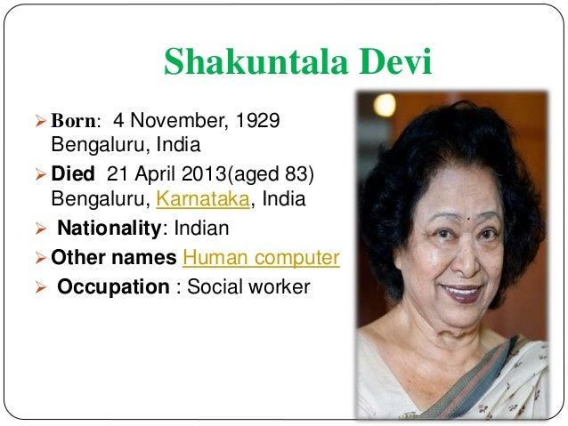 mathematician shakuntala devi biography of abraham