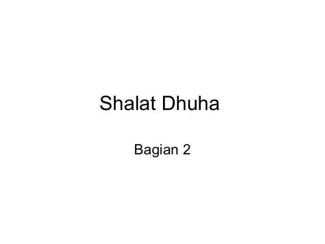 Shalat Dhuha  Bagian 2