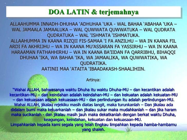 Sholat Dhuha Doa