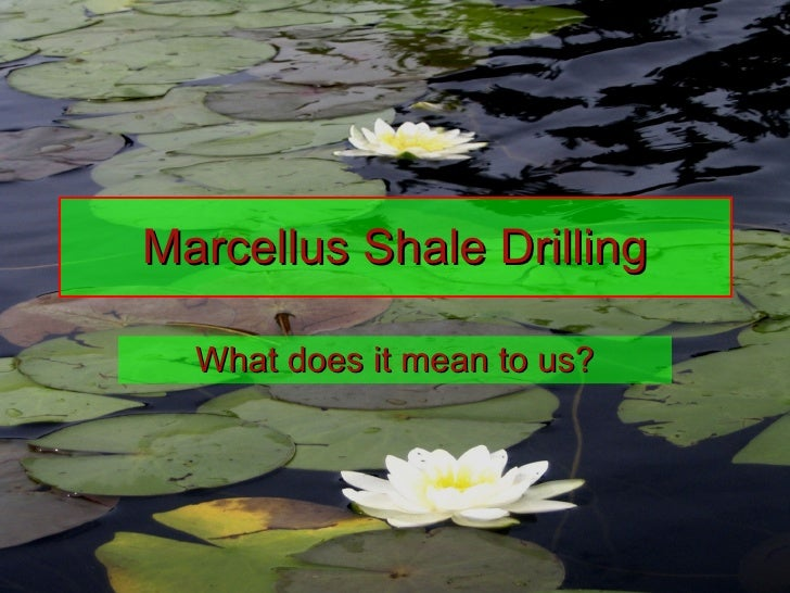 Marcellus Shale Drilling What does it mean to us?
