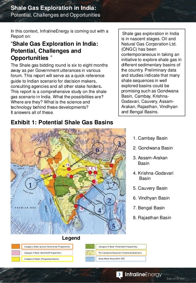 Shale Gas Exploration in India - Potential, Challenges and Opportunities Slide 3