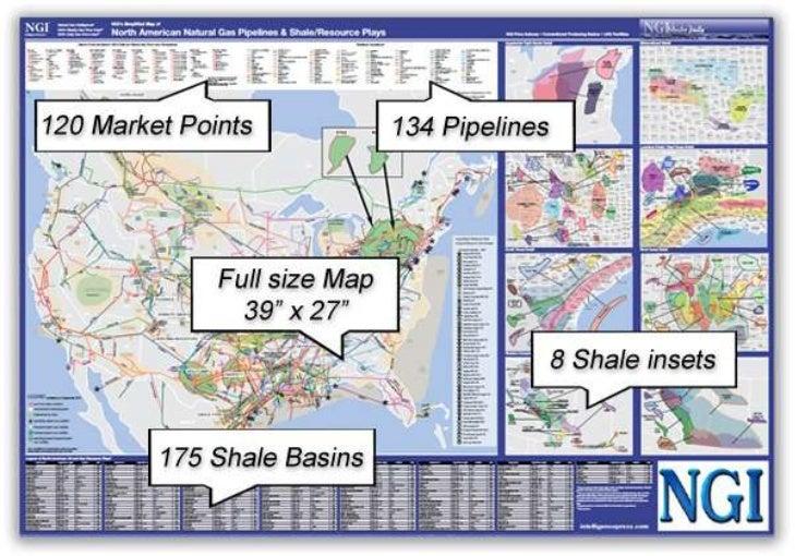 Ngis Simplified Map Of North American Natural Gas Pipelines Shale - Map-of-natural-gas-pipelines-in-us