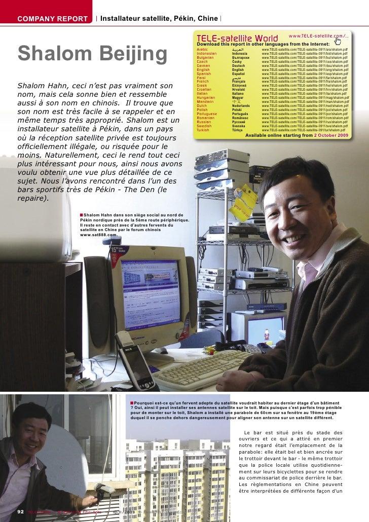 COMPANY REPORT                         Installateur satellite, Pékin, Chine                                               ...