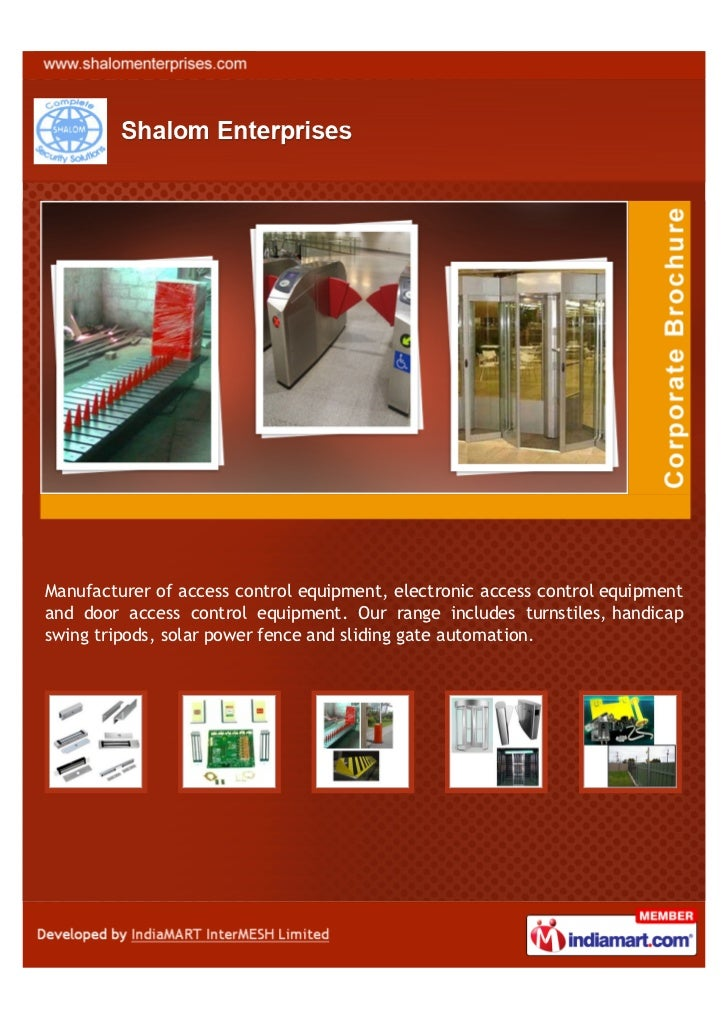 Manufacturer of access control equipment, electronic access control equipmentand door access control equipment. Our range ...