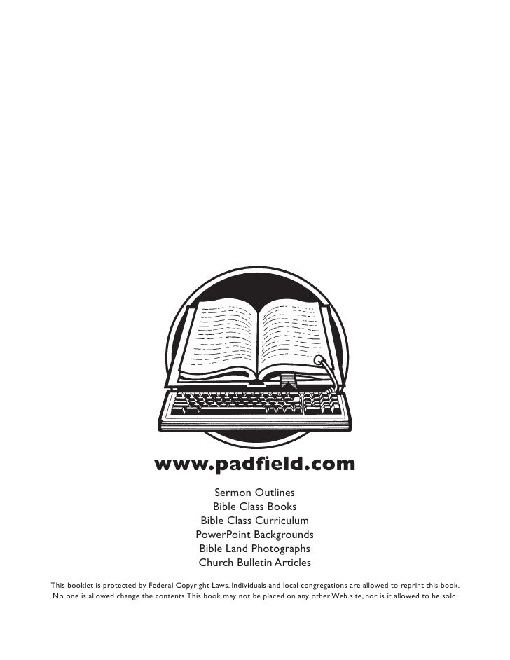 www.padfield.com                                               Sermon Outlines                                            ...