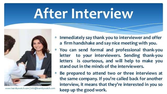 interview behaviour and body language