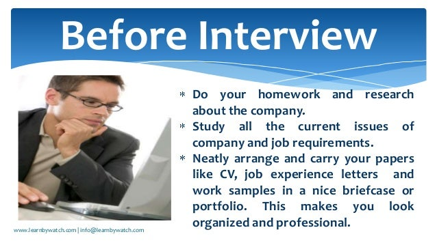 how to face interview ppt free download
