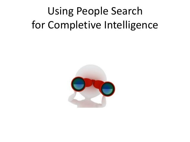 Using People Search for Completive Intelligence