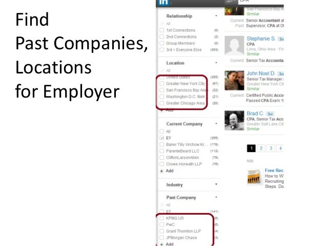 Find Past Companies, Locations for Employer
