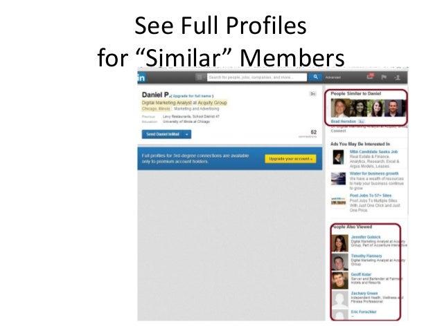 """See Full Profiles for """"Similar"""" Members"""