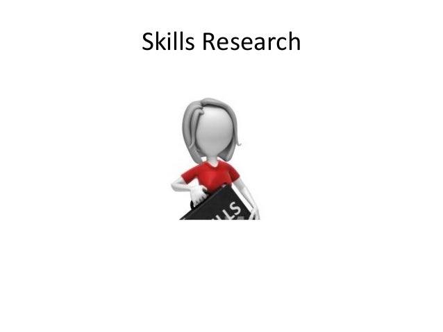 Skills Research