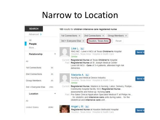 Narrow to Location
