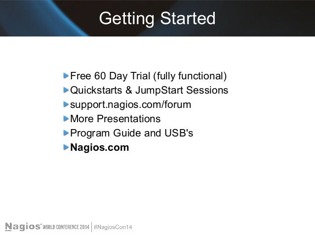 Nagios Conference 2014 - Shamas Demoret - Getting Started ...
