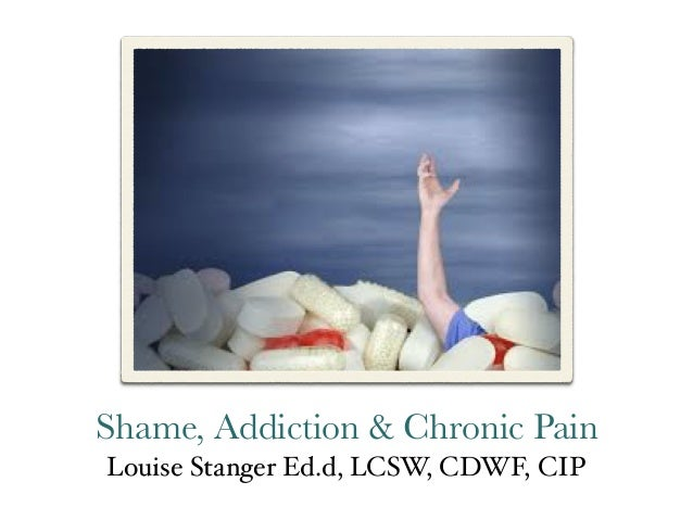 Shame, Addiction & Chronic Pain Louise Stanger Ed.d, LCSW, CDWF, CIP