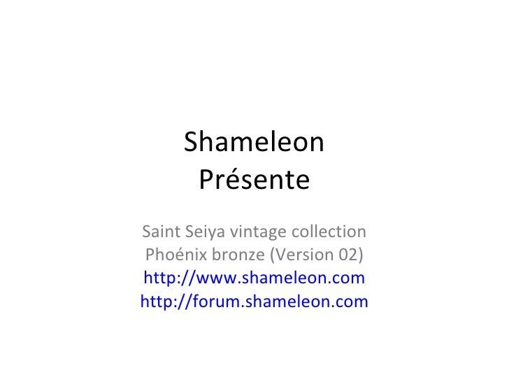 Shameleon Présente Saint Seiya vintage collection Phoénix bronze (Version 02) http://www.shameleon.com http://forum.shamel...