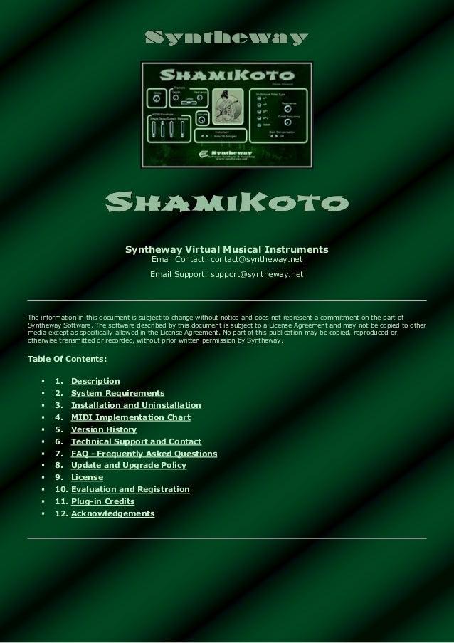 ShamiKoto Virtual Koto and Shamisen VST Windows, Audio Unit