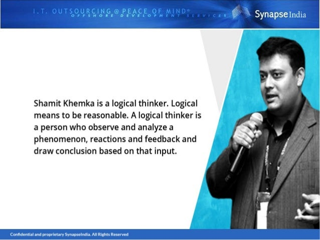 Shamit khemka - logical thinker