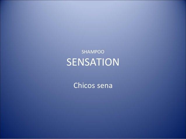 SHAMPOO SENSATION Chicos sena