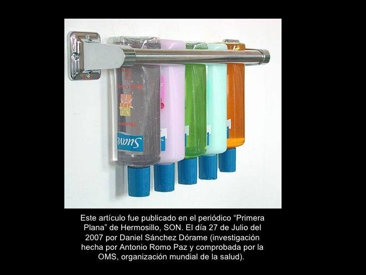 """Este artículo fue publicado en el periódico """"Primera Plana"""" de Hermosillo, SON. El día 27 de Julio del 2007 por Daniel Sán..."""