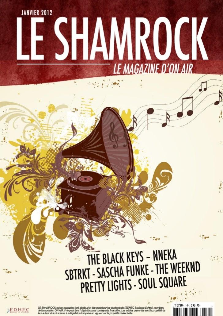 seulement quatre titres déjà repris et                           ÉditorialLE SHAMROCK janvier 2012                        ...