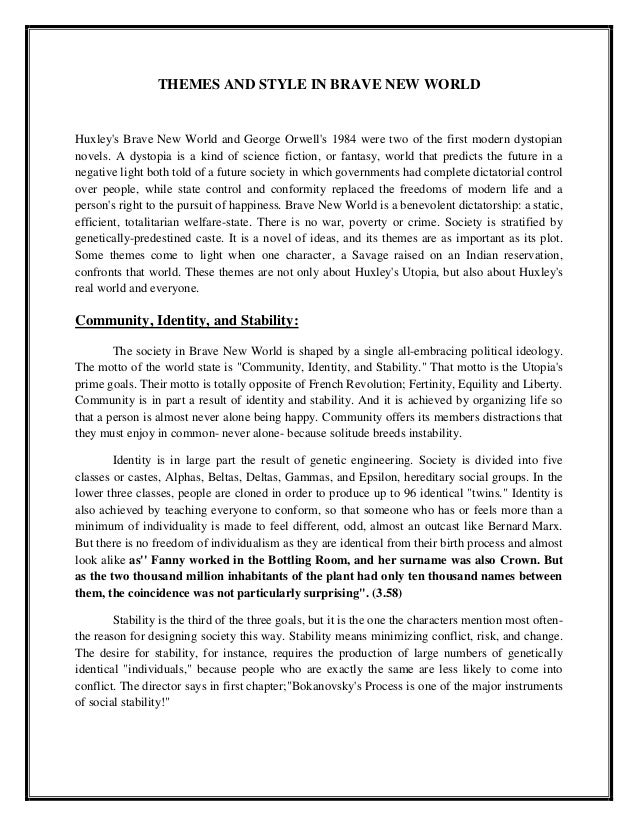 Brave new world research papers