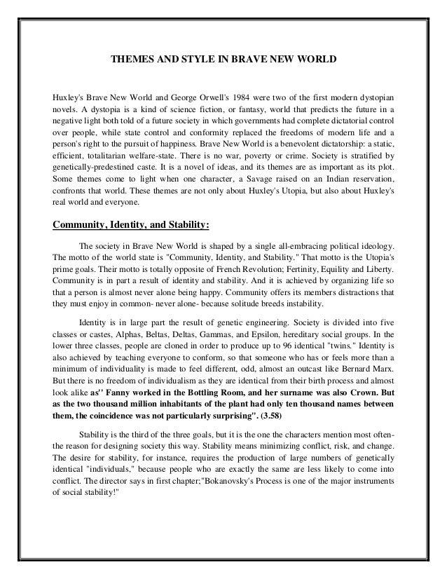 essays on brave new world themes
