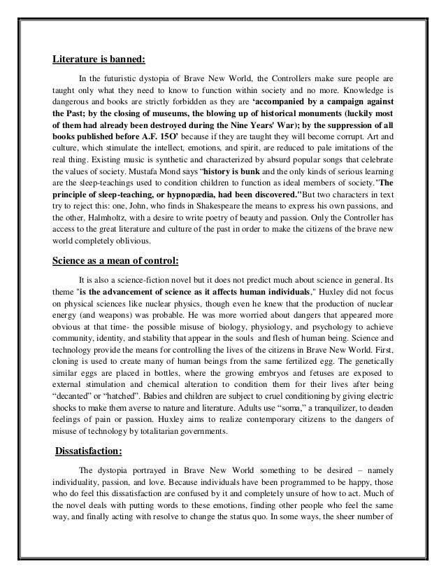 brave new world government control essay writer