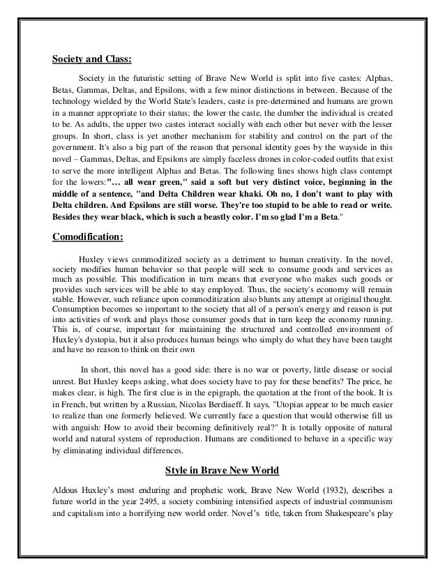hamlet and brave new world essay Comparative essay between hamlet and brave new world 2324 words | 12 pages ryan kosmayer eng-4u ms s monday july 22, 2013 brave new world and hamlet comparative.