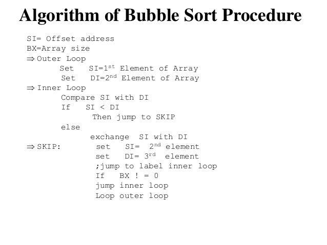 int 21h code 10 14 - Bubble Sort Algorithm Flowchart