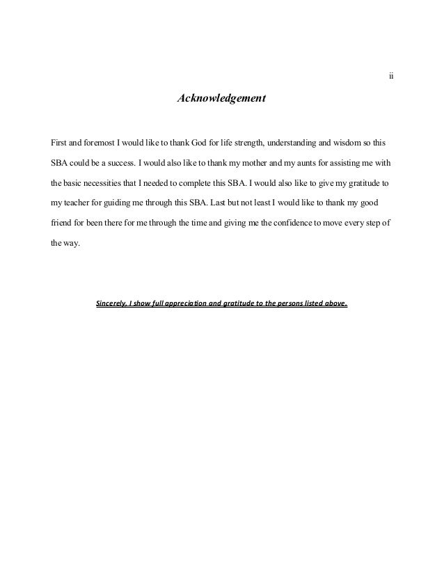 pob sba acknowledgements Acknowledgements are optional but marks not deducted if not used the post pob sba guidelines additional details appeared first on bla bla writing our statistics.
