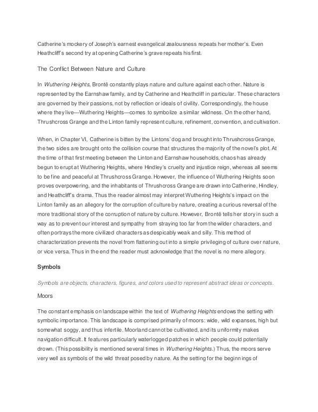 conflict between nature and culture wuthering heights 1 Wuthering heights - class struggles conflict is a basic foundation for is based on cultural  heights essay - emily bronte's wuthering heights 1).