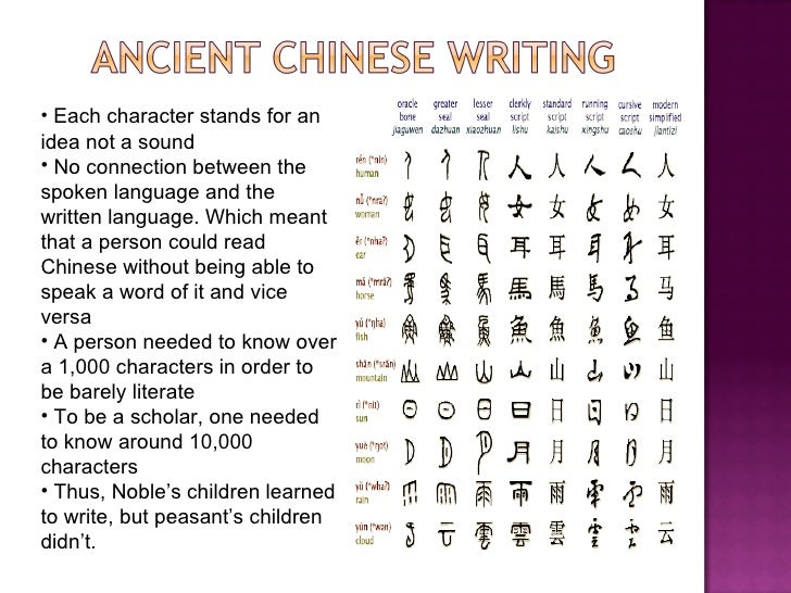 Ancient chinese writing activity for children