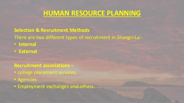 """shangri la hotel human resource Director of human resources at shangri-la hotel i have just returned from my first trip to """"the swiss hotel les roches international school of hotel."""