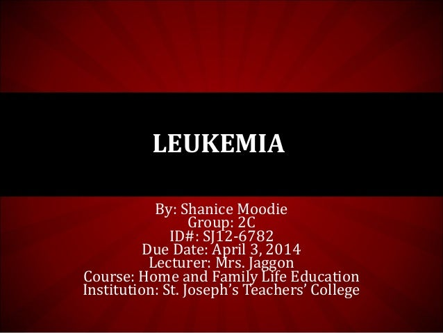By: Shanice Moodie Group: 2C ID#: SJ12-6782 Due Date: April 3, 2014 Lecturer: Mrs. Jaggon Course: Home and Family Life Edu...