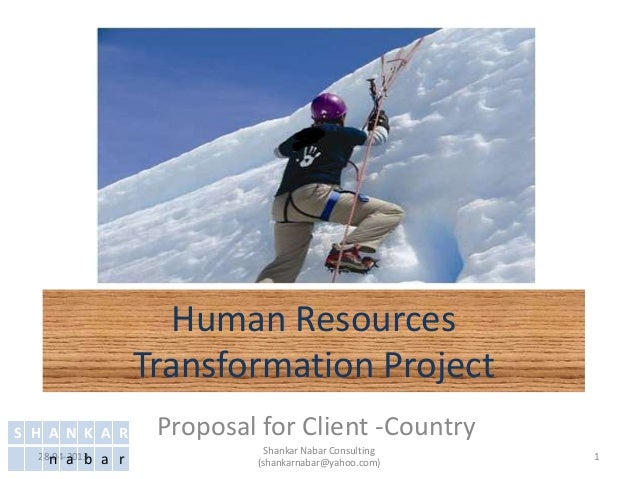 Human ResourcesTransformation ProjectProposal for Client -Country28-04-2013 1Shankar Nabar Consulting(shankarnabar@yahoo.c...