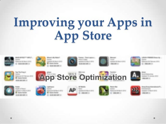 Improving your Apps in App Store