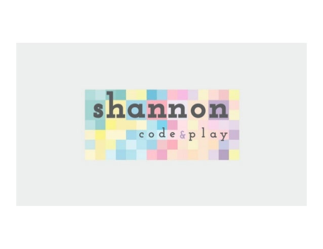 ¿Qué es Shannon Code and Play?
