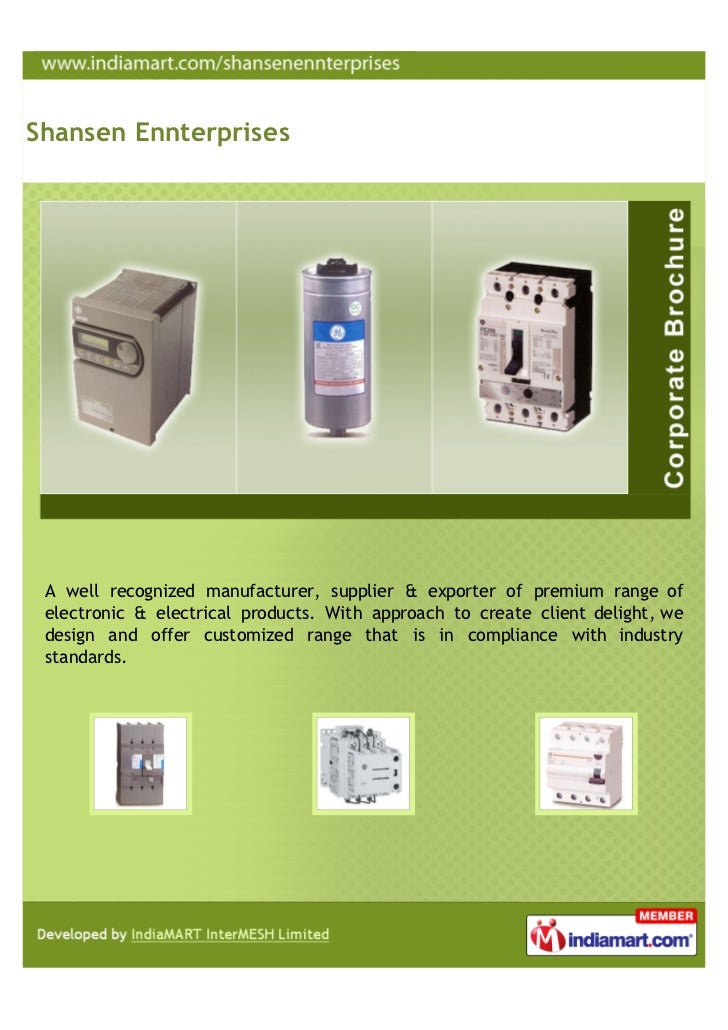 Shansen Ennterprises, Coimbatore, Electrical Products