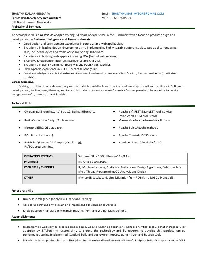 Shanthkumar 5Yrs Java Analytics Resume