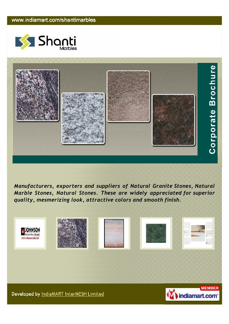 Manufacturers, exporters and suppliers of Natural Granite Stones, NaturalMarble Stones, Natural Stones. These are widely a...