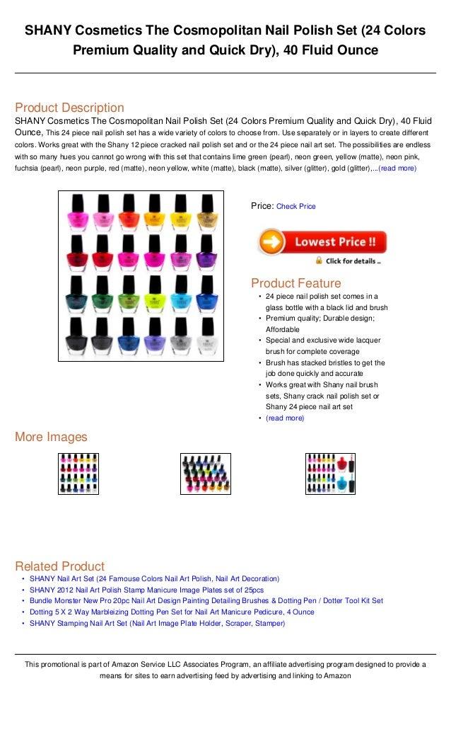 Shany cosmetics the cosmopolitan nail polish set (24 colors premium q…