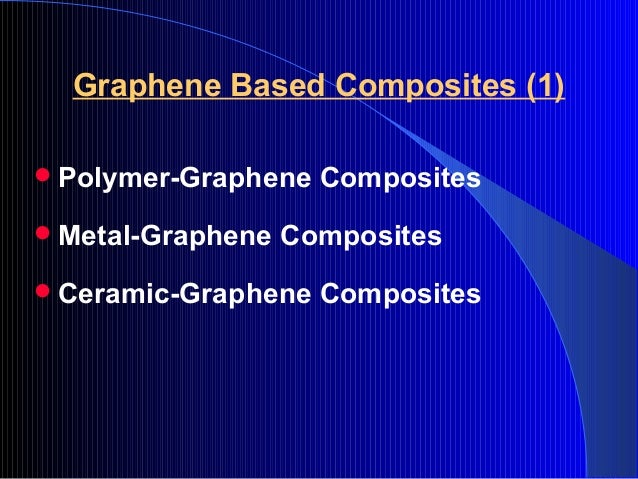 Shaowei Zhang Graphene Based Composites For Future