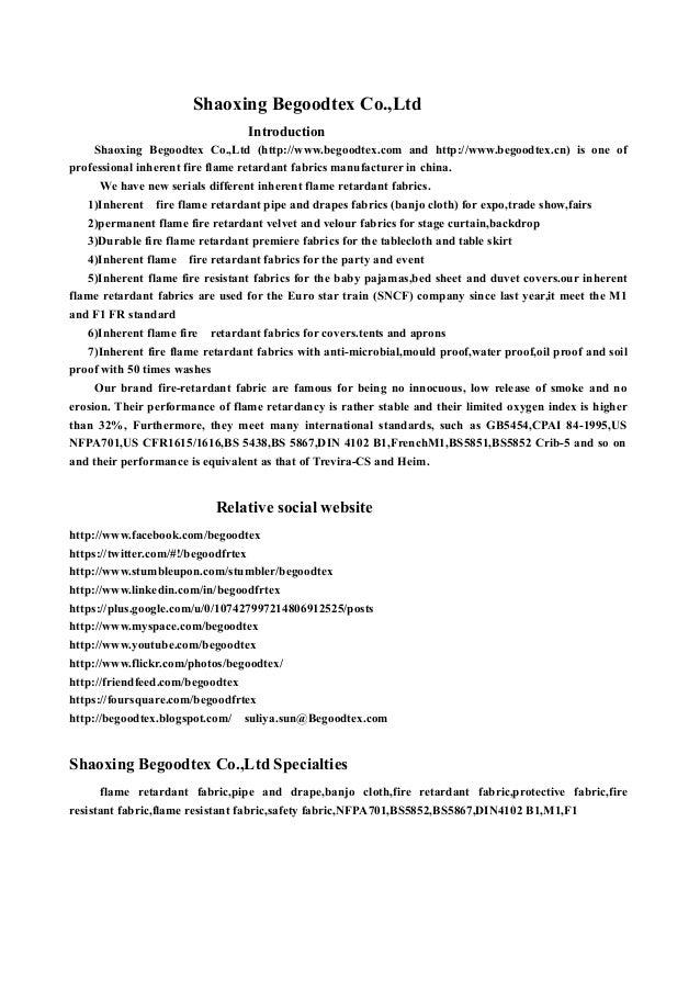 Shaoxing Begoodtex Co.,Ltd Introduction Shaoxing Begoodtex Co.,Ltd (http://www.begoodtex.com and http://www.begoodtex.cn) ...