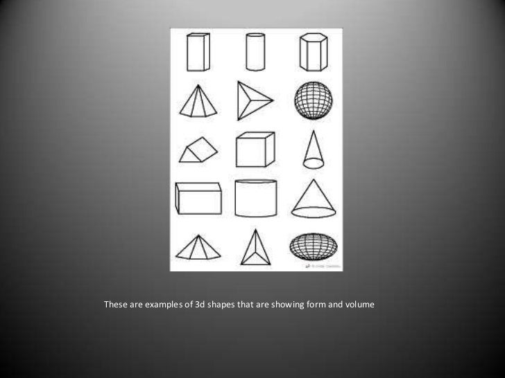 Shape And Form In Design : Shape space form volume